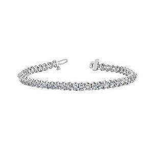 White gold prong setting Diamond tennis bracelet